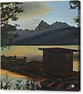 Morning At Lake Mcdonald Glacier Park Acrylic Print