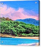 Morning At Papohaku Beach  Acrylic Print