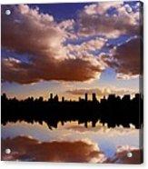 Morning At The Reservoir New York City Usa Acrylic Print