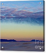 Morning Begins In White Sands Acrylic Print by Sandra Bronstein