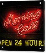 Morning Call Neon - New Orleans La Acrylic Print