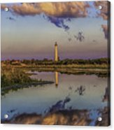 Morning Clouds At Cape May Light Acrylic Print