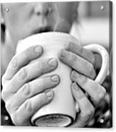 Morning Coffee Acrylic Print by Sally Nevin