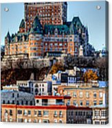 Morning Dawns Over The Chateau Frontenac Acrylic Print