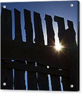 Morning Fence Acrylic Print