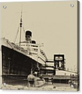 Morning Fog Russian Sub And Queen Mary Heirloom Acrylic Print