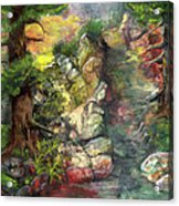 Morning Forest Hike Acrylic Print