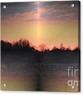 Morning Glow On A Frosty Day Acrylic Print