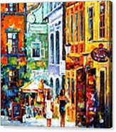 Morning Gossip - Palette Knife Oil Painting On Canvas By Leonid Afremov Acrylic Print