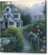 Morning In A Maine Garden Acrylic Print