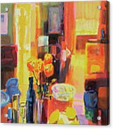 Morning In Paris Acrylic Print by Martin Decent