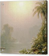 Morning In The Tropics Acrylic Print by Frederic Edwin Church