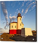 Morning Light At Coquille River Lighthouse Acrylic Print
