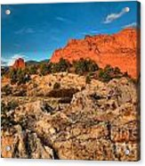 Morning Light At Garden Of The Gods Acrylic Print