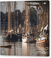 Morning Light - Chestertown Downrigging Weekend Acrylic Print by Lauren Brice