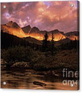 Morning Light Maligne Pass Acrylic Print