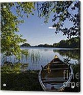 Morning Light On A Canoe Acrylic Print
