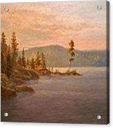 Morning Light On Coeur D'alene Acrylic Print by Paul K Hill