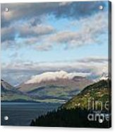 Morning Light On Lake Wakatipu And The Mountains Acrylic Print