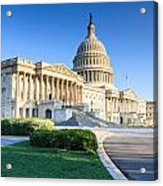 Powerful - Washington Dc Morning Light On Us Capitol Acrylic Print