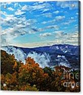 Morning Mist On An Autumn Morning Acrylic Print