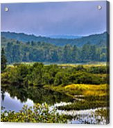 Morning Mist On The Moose River Acrylic Print by David Patterson