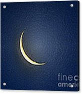 Morning Moon Textured Acrylic Print