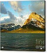 Morning Mountains At Many Glacier Acrylic Print
