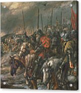 Morning Of The Battle Of Agincourt, 25th October 1415, 1884 Oil On Canvas Acrylic Print