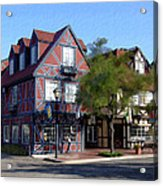 Morning On 2nd Street Solvang California Acrylic Print