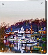 Morning On Boathouse Row Acrylic Print