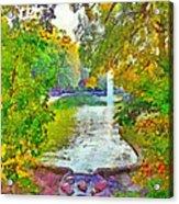 Mirror Lake. The Ohio State University Acrylic Print