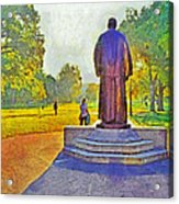 The William Oxley Thompson Statue. The Ohio State University Acrylic Print