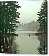 Morning Paddle Acrylic Print by RJ Martens