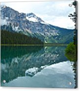 Morning Reflection In Emerald Lake In Yoho National Park-british Columbia-canada Acrylic Print