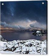Morning Storm At Crater Lake Acrylic Print