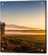 Morning Sun Over Farmland Acrylic Print