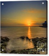 Morning Sun Rising In The Grand Caymans Acrylic Print by Dan Friend