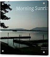 Morning Sunrise By Angela Acrylic Print