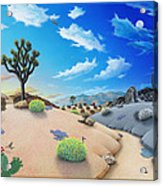 Joshua Tree Morning To Night Acrylic Print