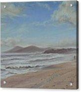 Mornings Haze One Mile Beach Forster Acrylic Print