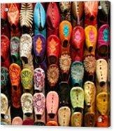 Moroccan Babouches Old Medina Marrakesh Morocco Acrylic Print