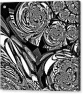 Moroccan Lights - Black And White Acrylic Print