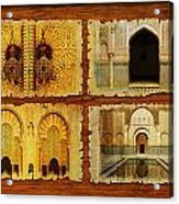 Morocco Heritage Poster 01 Acrylic Print by Catf