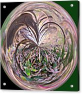 Morphed Art Globe 36 Acrylic Print by Rhonda Barrett