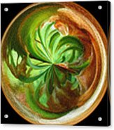 Morphed Art Globes 16 Acrylic Print by Rhonda Barrett