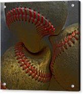 Morphing Baseballs Acrylic Print by Bill Owen