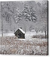 Morris Arboretum Mill In Winter Acrylic Print