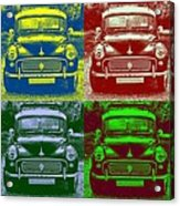 Morris Car In Pop Art Acrylic Print