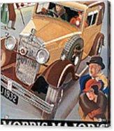Morris Major 6 - Vintage Car Poster Acrylic Print